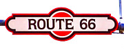 Historic Acrylic Prints - Route 66 Sign in Flagstaff Arizona by David Patterson