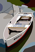 Row Boat Digital Art - Row Boat San Damingo Creek by Jim Proctor