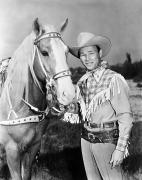 Celebrities Photo Framed Prints - Roy Rogers (1912-1998) Framed Print by Granger