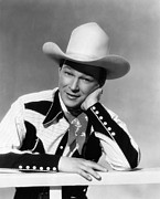 Western Shirt Framed Prints - Roy Rogers, Ca. 1940s Framed Print by Everett