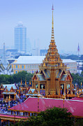 Sorrowful Framed Prints - Royal cremation ceremony Framed Print by Buchachon Petthanya