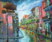 New Orleans Scenes Paintings - Royal Lights by Dianne Parks