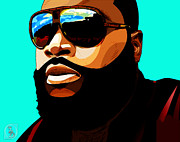 Rick Framed Prints - Rozay Framed Print by The DigArtisT