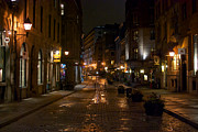 Old Montreal Art - Rue St. Paul by Mike Horvath