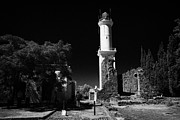 Faro Posters - ruins of san francisco convent and lighthouse Barrio Historico Colonia Del Sacramento Poster by Joe Fox