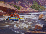 White Water Rafting Paintings - Running The Numbers by Shawn Shea
