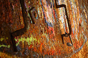 Airbrush Photos - Rust Background by Carlos Caetano