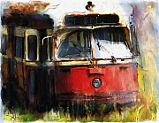 Train Mixed Media Prints - Rust In Peace Print by Bob Salo