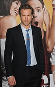Tie Pin Framed Prints - Ryan Reynolds At Arrivals For The Framed Print by Everett