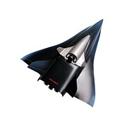 Jet-powered Metal Prints - Saenger Horus Spaceplane, Artwork Metal Print by Detlev Van Ravenswaay