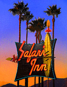 Street Sign Digital Art Posters - Safari Inn Poster by Ron Regalado