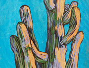 Southwest Landscape Paintings - Saguaro 19 by Sandy Tracey