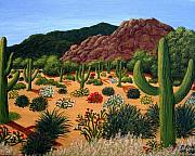 Rocks Paintings - Saguaro Desert by Frederic Kohli