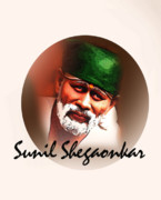 Sainath Faces Paintings - Saibaba by Sunil Shegaonkar