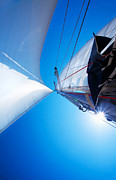 Mast Adventure Prints - Sail over blue sky Print by Anna Omelchenko