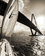 Sailing Metal Prints - Sailing on the Charleston Harbor Beneteau Sailboat Metal Print by Dustin K Ryan