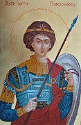 Orthodox Paintings - Saint George by Janeta Todorova