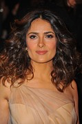 2010s Hairstyles Framed Prints - Salma Hayek At Arrivals For Alexander Framed Print by Everett