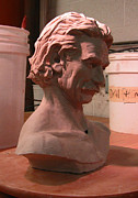 Portraits Sculptures - Sam Elliott by Rick Clubb