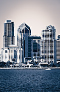 Condos Framed Prints - San Diego Skyline Framed Print by Paul Velgos