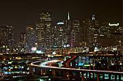Famous Streets Originals - San Francisco at night by Lucas Tatagiba