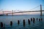 Bay Bridge Photos - San Francisco Bay Bridge by Mandy Wiltse