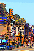 Bay Bridge Digital Art - San Francisco Broadway by Wingsdomain Art and Photography