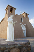 Taos Posters - San Francisco de Asis Mission Church Poster by Bryan Mullennix