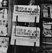 Emigration Photo Posters - San Francisco Examiner Headline Poster by Everett