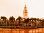 Bay Area Mixed Media - San Francisco Ferry building by Nick Diemel