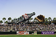 Ballparks Posters - San Francisco Giants Baseball Park Poster by Paul Plaine