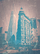 World Cities Digital Art Metal Prints - San Fransisco Metal Print by Irina  March
