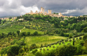 Wine Country. Prints - San Gimignano Tuscany Italy Print by Carl Amoth