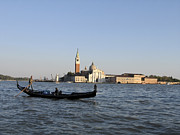 Gondolier Photo Framed Prints - San Giorgio Maggiore Framed Print by Bernard Jaubert