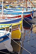 Bateau Framed Prints - Sanary fishing boats Framed Print by Rod Jones