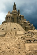 Beach Photograph Photos - Sand Castle by Sophie Vigneault