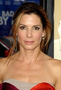 Gold Earrings Posters - Sandra Bullock At Arrivals For All Poster by Everett
