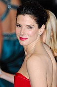 Stud Earrings Prints - Sandra Bullock At Arrivals For The 83rd Print by Everett