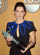 Screen Actors Guild Prints - Sandra Bullock In The Press Room Print by Everett