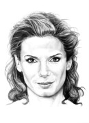 (murphy Elliott) Drawings - Sandra Bullock by Murphy Elliott
