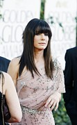 Beverly Hilton Hotel Metal Prints - Sandra Bullock Wearing A Jenny Packham Metal Print by Everett