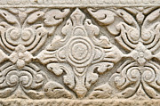 Thailand Reliefs Metal Prints - Sandstone carving  Metal Print by Kanoksak Detboon