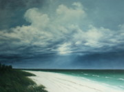 Storm Clouds Paintings - Sanibel Storm by Mary Taglieri
