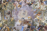 The Vault Prints - Sant Ignazio di Loyola church frescoes Print by Stefano Baldini