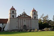 California Framed Prints - Santa Barbara Mission Framed Print by Henrik Lehnerer