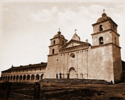 1876 Prints - Santa Barbara Mission Print by Pg Reproductions