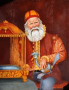 Fine Art - Seasonal Art Prints - Santa Print by Enzie Shahmiri