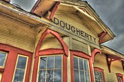 Depot Digital Art Prints - Santa Fe Train Depot Print by Terry Hollensworth-Rutledge