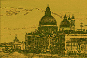 Mixed Media Photos - Santa Maria della Salute  by Heiko Koehrer-Wagner