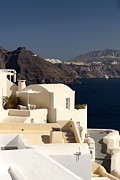 Leda Photography.com Framed Prints - Santorini View Framed Print by Leslie Leda